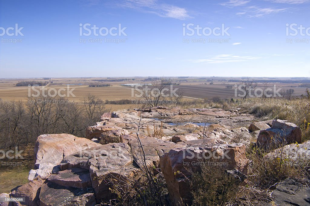 Bluffs and Beyond at Blue Mounds State Park stock photo