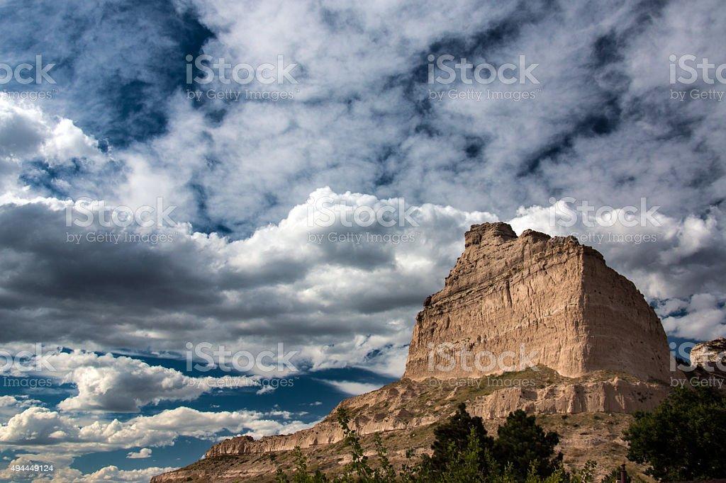 Bluffs of Western Nebraska stock photo