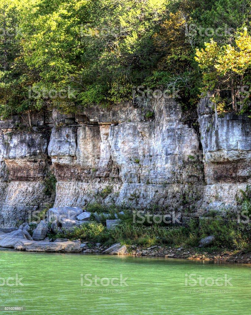 Bluffs On Lake stock photo