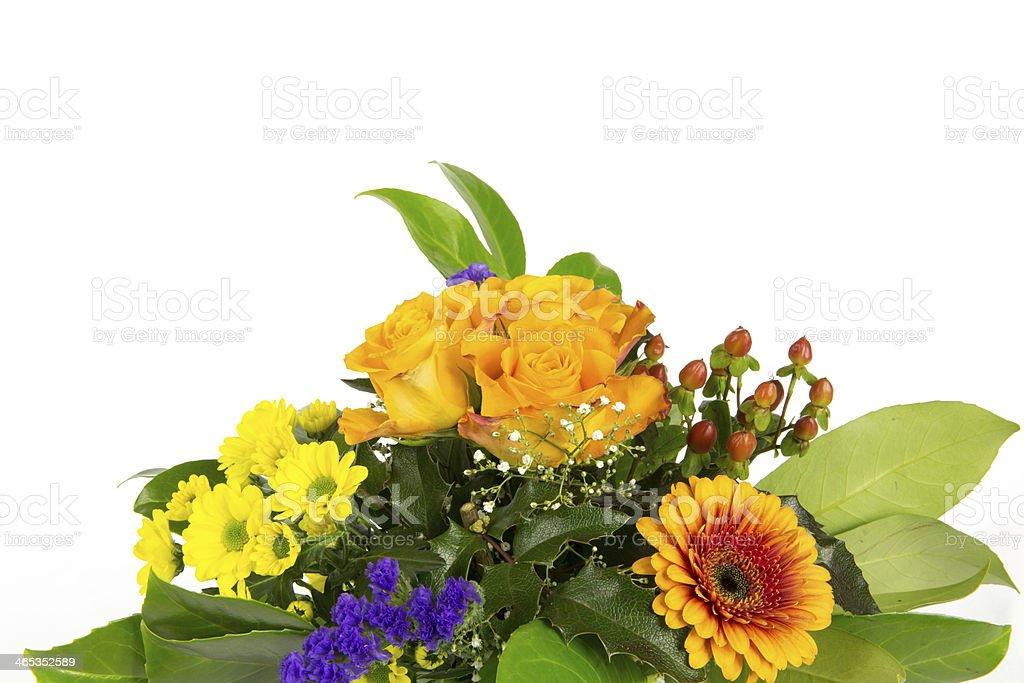 Blumenstrauss grün orange royalty-free stock photo