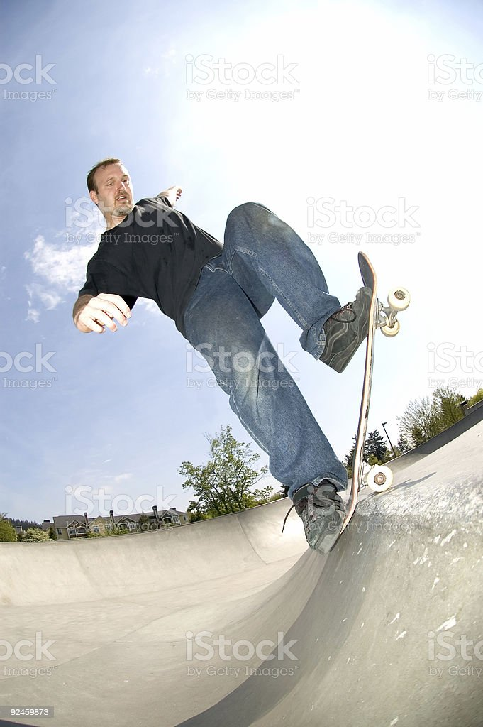 Blunt Stall on Ledge stock photo