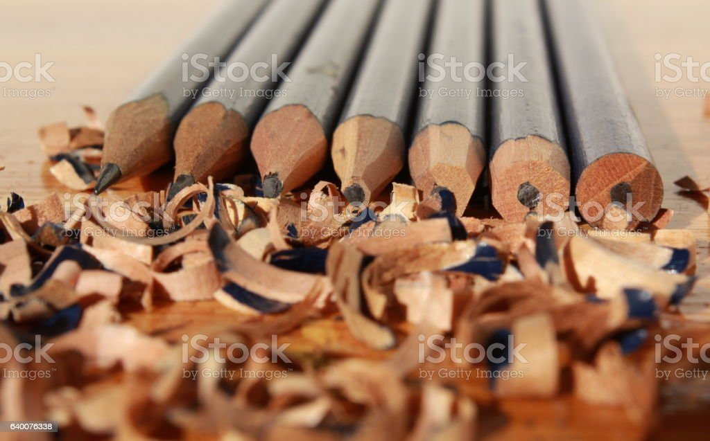 blunt to sharpness stock photo