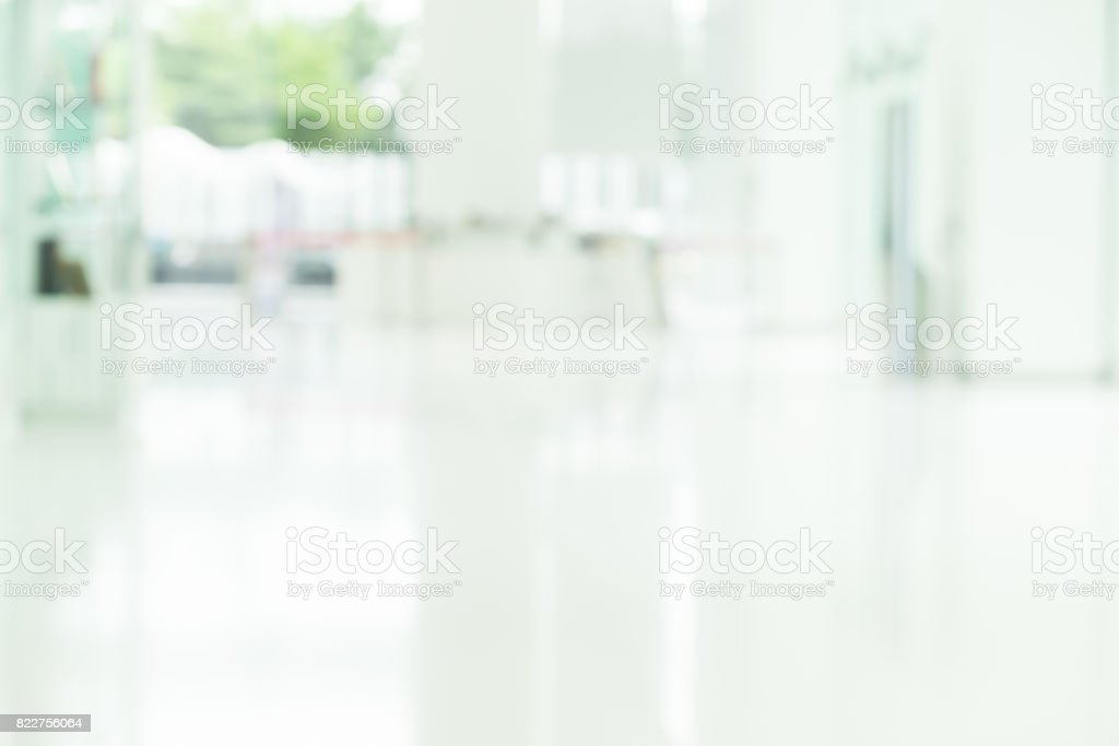 Blur abstract background of the walkway of building office/ silhouettes motion style, blur lobby background. stock photo