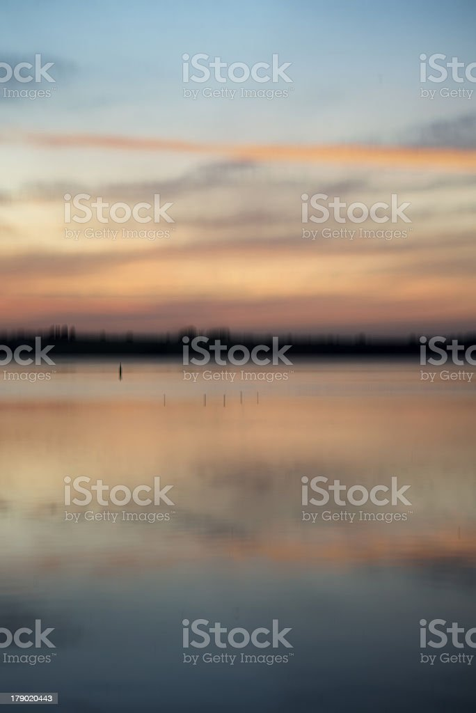 Blur abstract sunset landscape vibrant colors stock photo