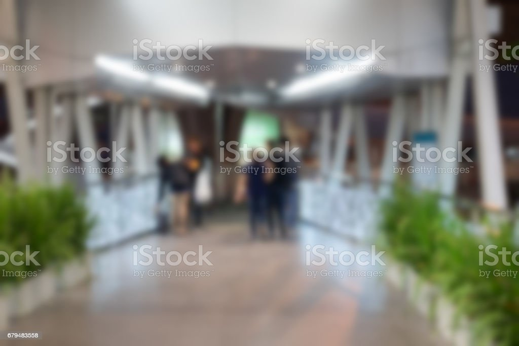 Blur background business people in blurred motion walking