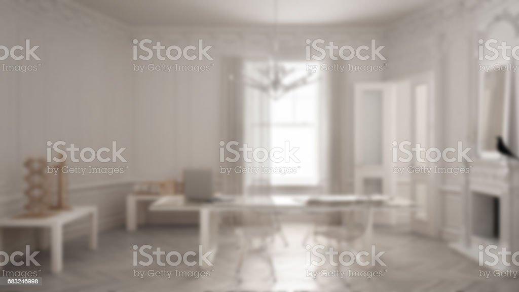 Flou darrièreplan décoration intérieure bureau minimaliste moderne