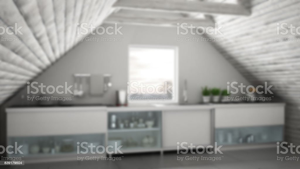 Industriele Keuken Industrial : Vervagen de achtergrond interieur scandinavische industriële keuken