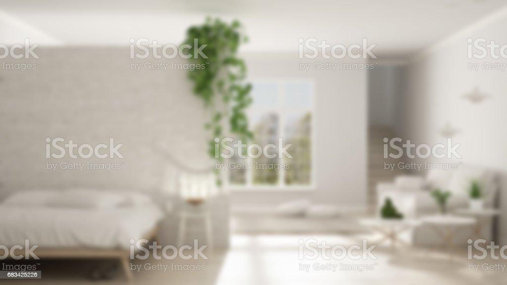 Klassiek Wit Interieur : Vervagen de achtergrond interieur scandinavisch wit minimalistisch