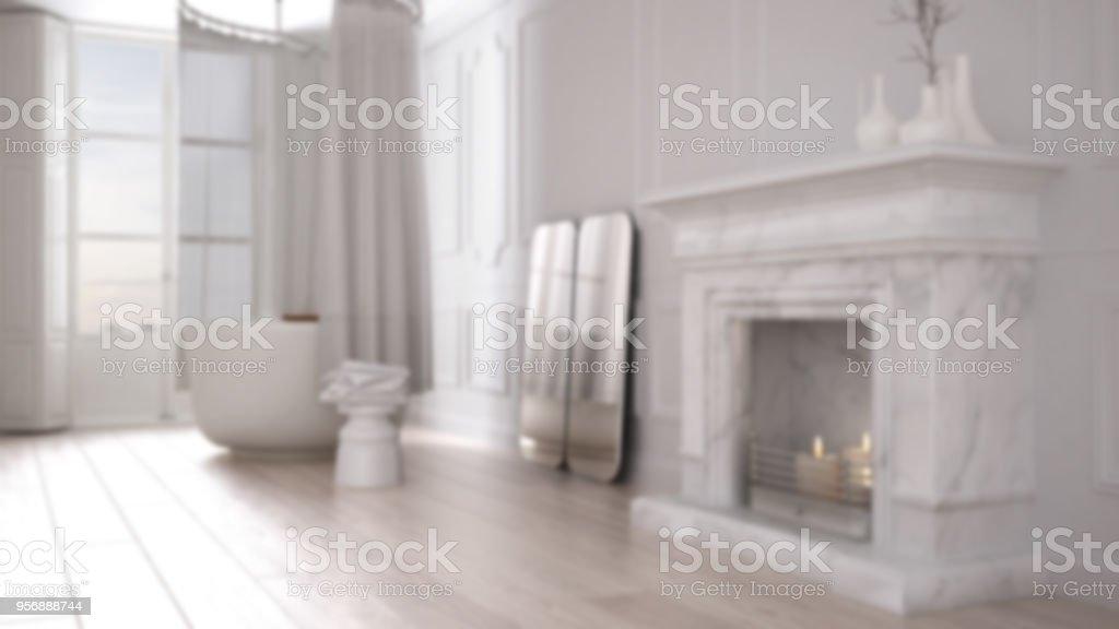 Desenfoque De Fondo Diseño De Interiores Cuarto De Baño Vintage En ...