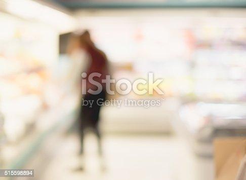 1072974214 istock photo Blur background of woman customer select product on shelf 515598894