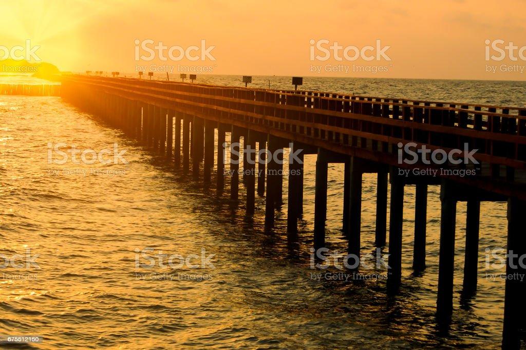 Blur background, Sunset at the tourist attractions of Thailand photo libre de droits