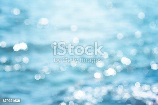 istock Blur beautiful shiny sparkling  tropical blue sea beach 672951608