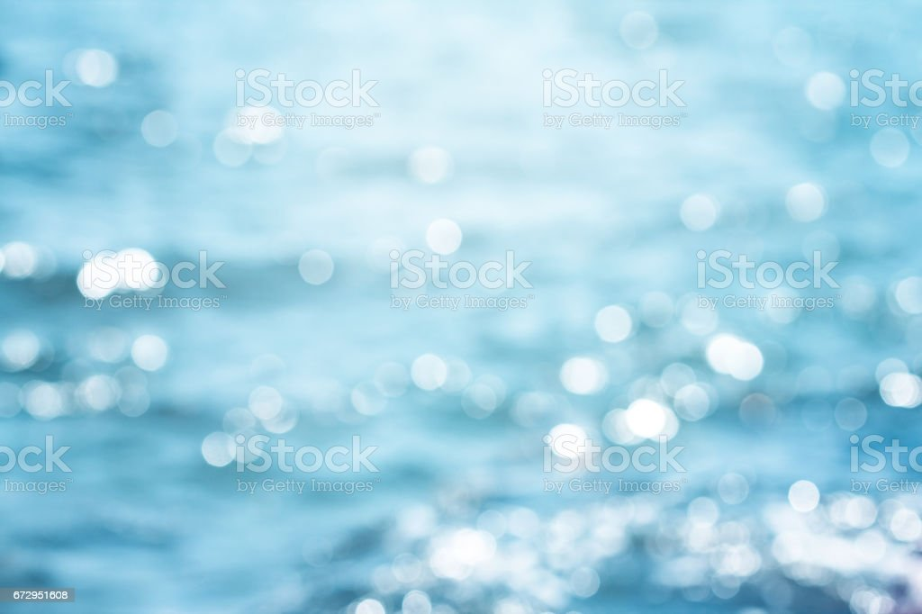 Blur beautiful shiny sparkling  tropical blue sea beach stock photo