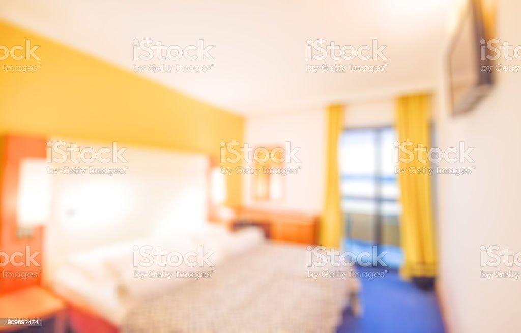 Blur Bedroom Arranged With Ecofriendly Materials Interior Of Cozy Bedroom In Simple Design Blur Bedroom Interior For Background Stock Photo Download Image Now Istock