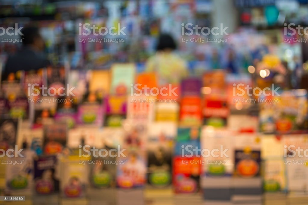 Blur bookshelf stock photo