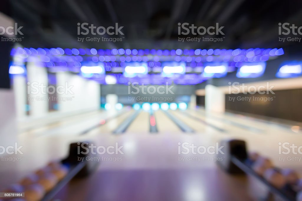 blur bowling stock photo