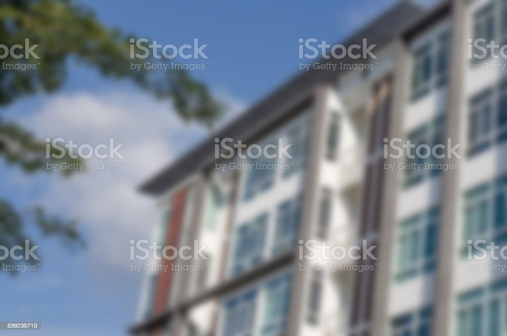 Blur building housing the people present. royalty-free stock photo
