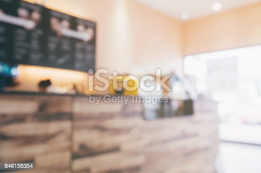886308526 istock photo blur cafe coffee shop restaurant interior abstract background 846158354