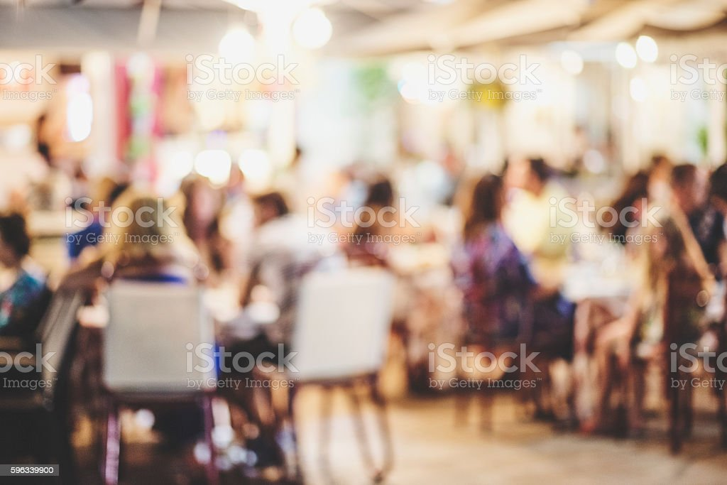 Blur  cafe restaurant with abstract bokeh light image background. royalty-free stock photo