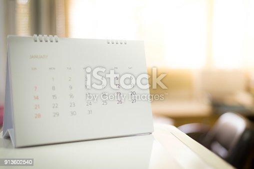 istock blur calendar in planining concept. 913602540