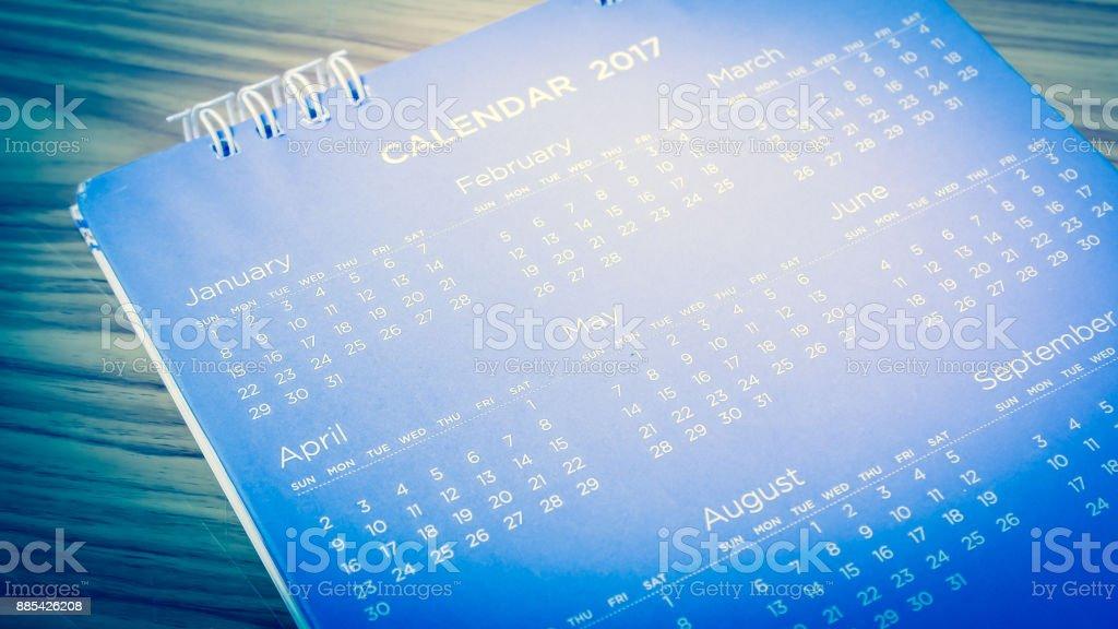 blur calendar stock photo