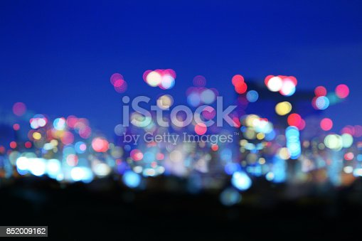 istock blur city light landscape background for Business concept 852009162