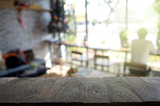 blur coffee shop window