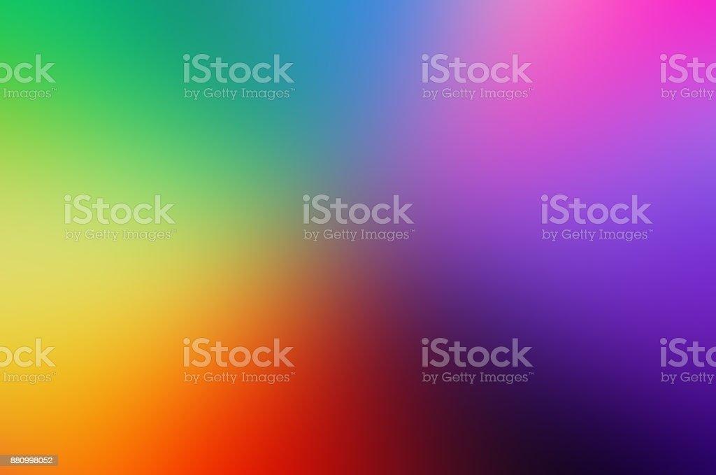 desenfoque de fondo colores morado amarillo verde azul teoría del Color colores primarios - foto de stock