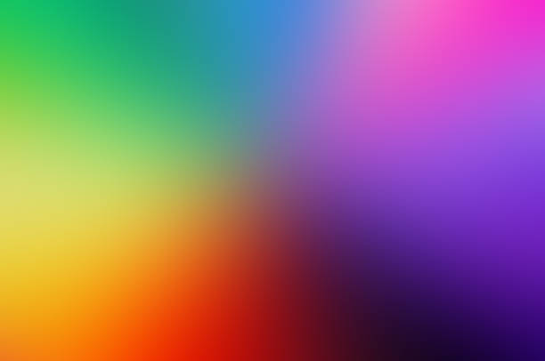 blur colorful background purple yellow blue green color Primary colors Color Theory stock photo