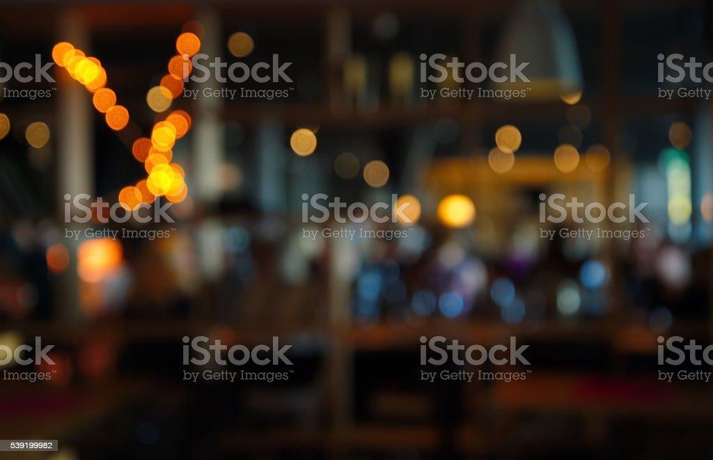 blur dark bar or cafe at night royalty-free stock photo