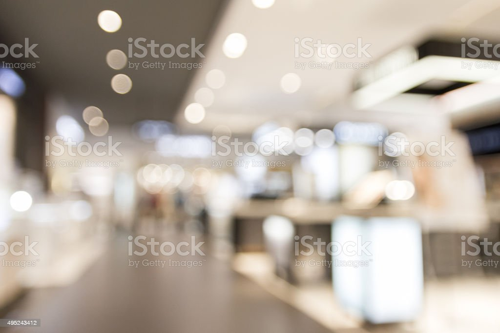blur department store with bokeh background stock photo
