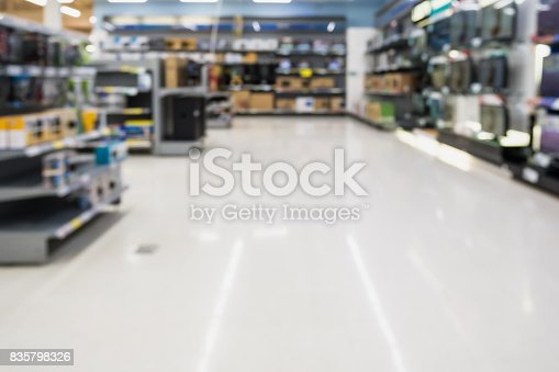 istock blur electronics store aisle background 835798326