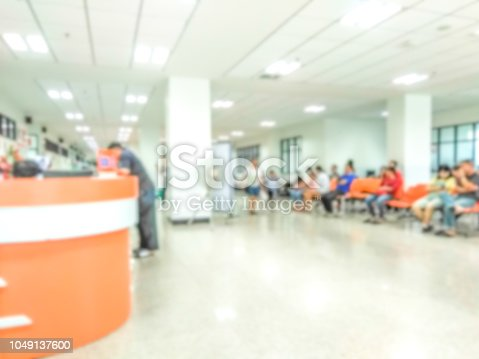 blur beautiful  hospital or clinic interior for background,patient waiting for see doctor.
