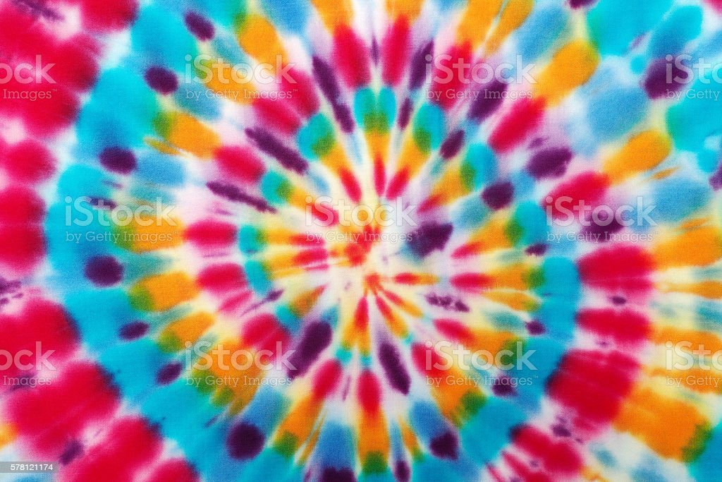 Blur fabric Tie-dye. stock photo