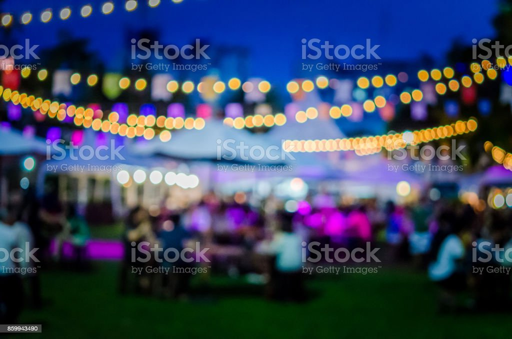 blur festival in garden stock photo
