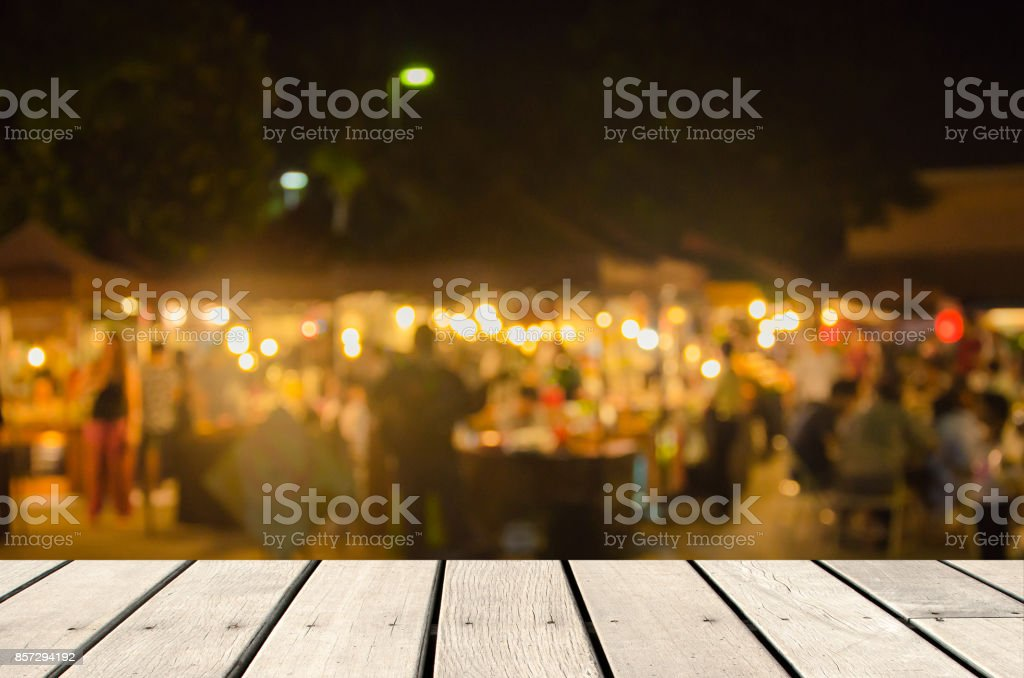 Blur food market stock photo