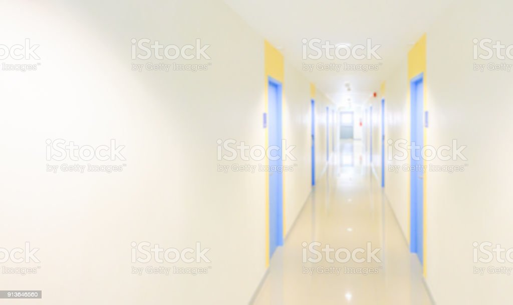 Blur hallway concept for hotel stock photo