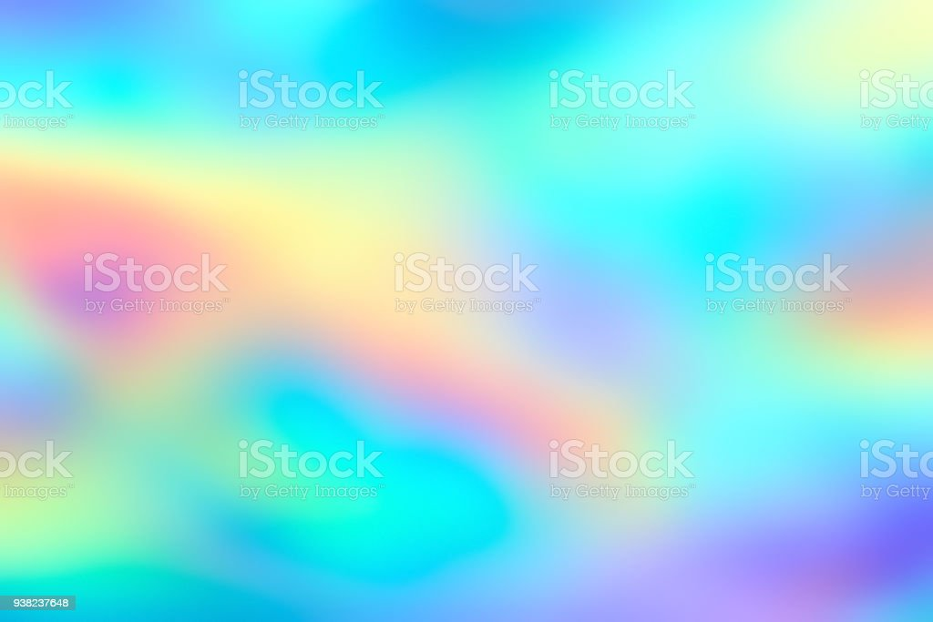 Blur holographic neon foil background stock photo