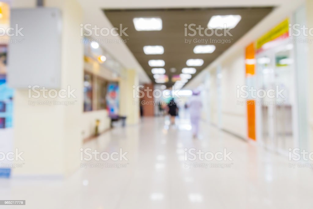 blur image background  of corridor in hospital or clinic image zbiór zdjęć royalty-free