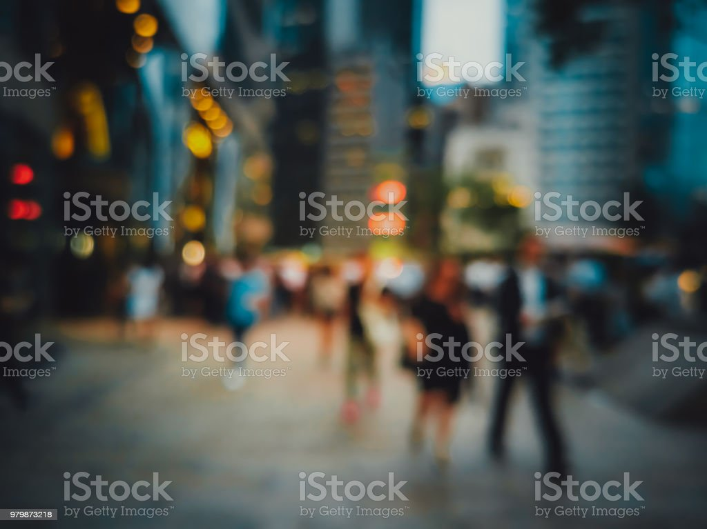 blur image of people enjoy the drink after work on public area