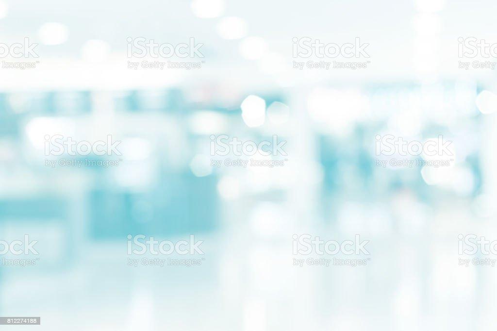 Unschärfe in Gebäude mit Bokeh leicht verschwommen medizinischen Hintergrund Lizenzfreies stock-foto