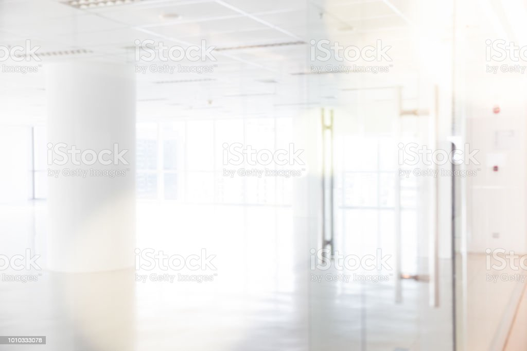 Blur Inside Modern Office With Open Space Stock Photo Download