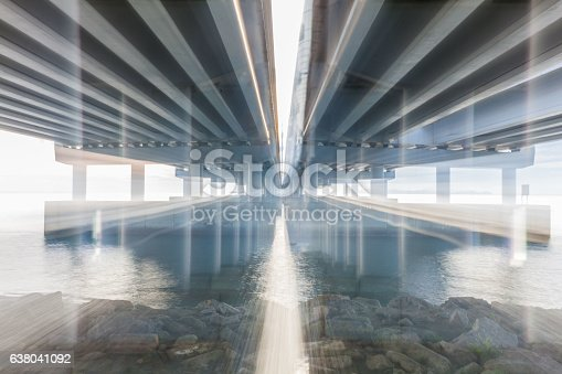 Blur light effect double exposure photography for background