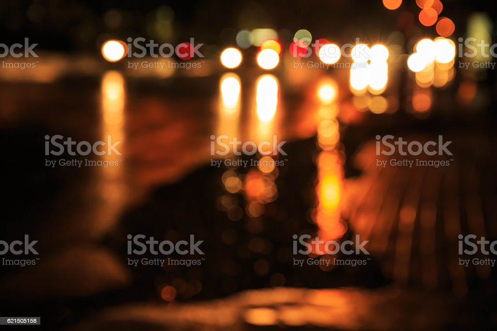 blur light traffic on street foto stock royalty-free