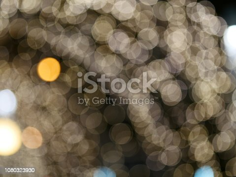 istock Blur lighting in night street cafe 1080323930