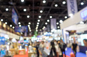 blur tradeshow exibition hall show trade and business event light and boken