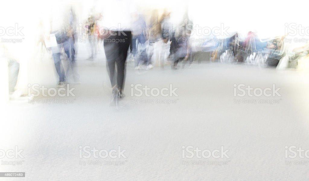 blur motion walking stock photo