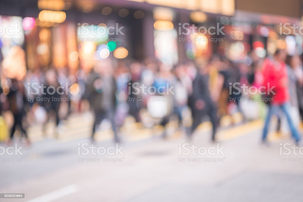 Blur movement of city people stock photo