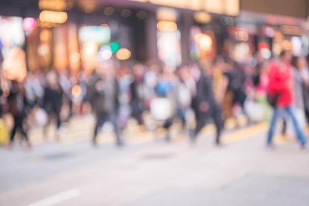 Blur movement of city people stock photo