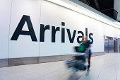 istock Blur Movement people arrivals Rush Hour Heathrow airport, London, UK 495721913